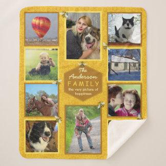 Manta Sherpa El collage 10 de la foto de familia representa