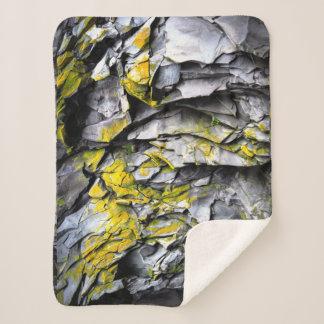 Manta Sherpa El gris cubierto de musgo oscila la foto