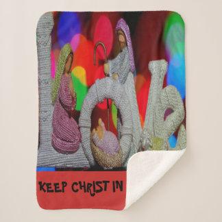 Manta Sherpa Guarde el navidad de Cristo n con la natividad y