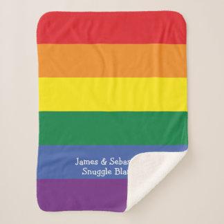 Manta Sherpa Haga su propio arco iris personalizado del orgullo