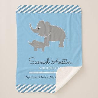 Manta Sherpa Invitación del elefante del bebé y del bebé del