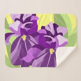 Manta Sherpa Iris púrpura