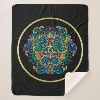 Manta Sherpa Mandala del negro del Capricornio de la muestra