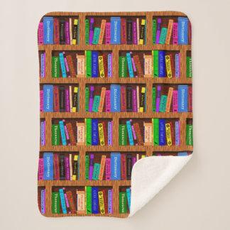 Manta Sherpa Modelo bonito del estante de la biblioteca de los