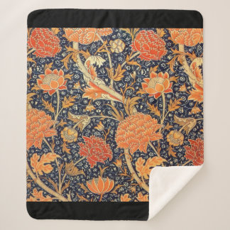 Manta Sherpa Modelo floral de Nouveau del arte de William