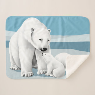 Manta Sherpa Oso polar y Cubs