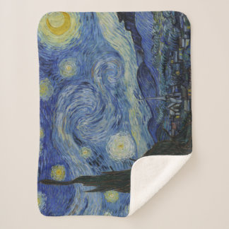 Manta Sherpa Pintura de la bella arte de Vincent van Gogh de la