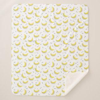 Manta Sherpa Plátanos geométricos