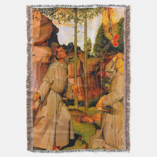 Manta St Francis de Assisi recibe los estigmas de Jesús