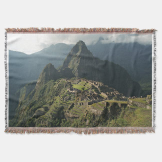 Manta/tapiz tejidos Picchu del tiro de Machu Manta