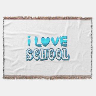 Manta Tejida Amo la escuela