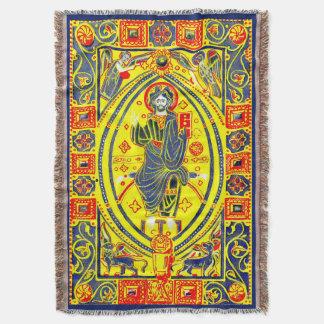 Manta Tejida Arte popular bizantino Jesús