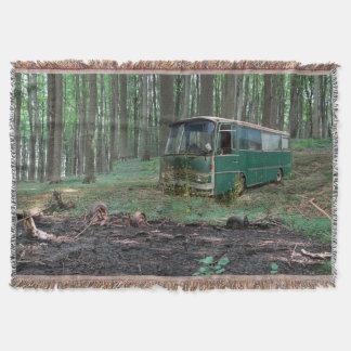 Manta Tejida Autobús viejo
