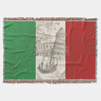 Manta Tejida Bandera y símbolos de Italia ID157