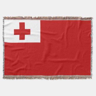 Manta Tejida Cruz Roja de la bandera de la isla de Tonga