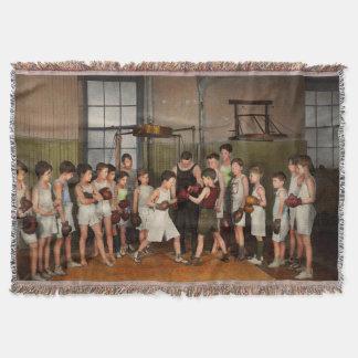 Manta Tejida Deporte - boxeo - puños de la furia 1924