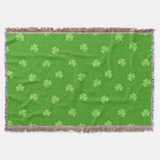 Manta Tejida Día verde de Patricks del santo del modelo del