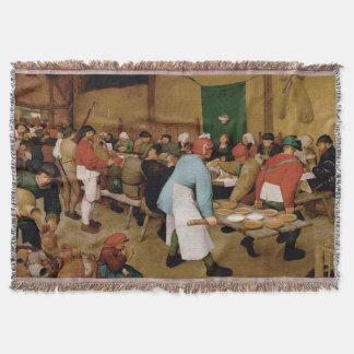 Manta Tejida El boda campesino de Pieter Bruegel la anciano