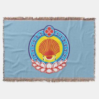 Manta Tejida Escudo de armas de Kalmukia