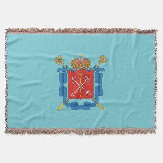Manta Tejida Escudo de armas de St Petersburg