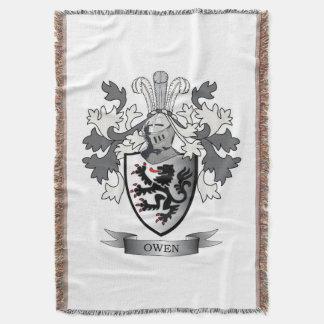 Manta Tejida Escudo de armas del escudo de la familia de Owen