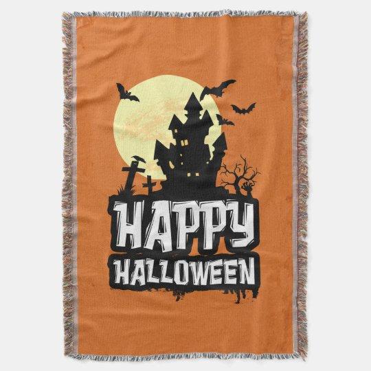 Manta Tejida Feliz Halloween