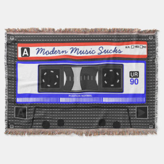 Manta Tejida La música moderna chupa el casete compacto retro