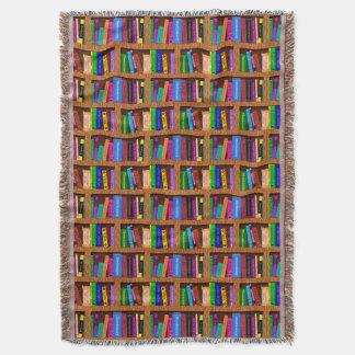 Manta Tejida Modelo del estante de librería de la biblioteca