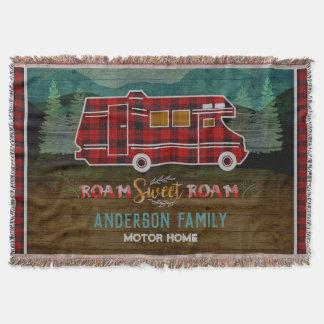 Manta Tejida Motorhome rv Camper Travel Van Rustic Personalized