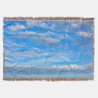 Manta Tejida Nubes de la algodón