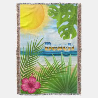 Manta Tejida Paraíso tropical de la playa de la salida del sol