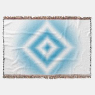 Manta Tejida pendiente azul del diamante del Personalizar-cielo