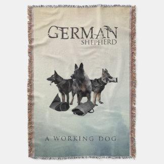 Manta Tejida Perro de pastor alemán de trabajo - GSD