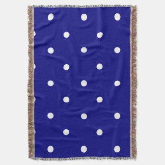 Manta Tejida Silent_Night-II (c) Blue-White-Blanket_