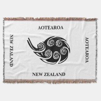 Manta Tejida Tiro de AOTEAROA/de NZ KORU de Nueva Zelanda