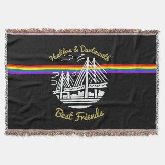 Manta Tejida Tiro del arco iris de los amigos de Halifax