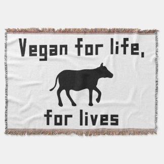 Manta Tejida Vegano para la vida