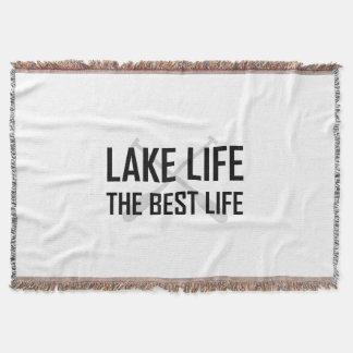 Manta Tejida Vida del lago la mejor vida