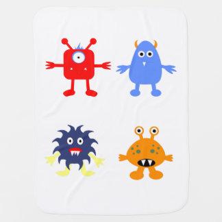 Manta temática del bebé del monstruo mantitas para bebé