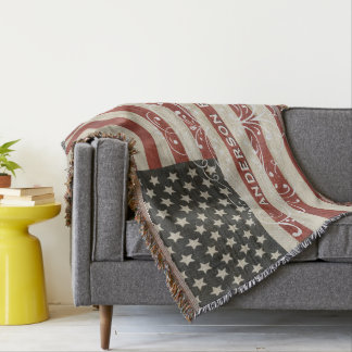 Manta Textura de madera personalizada de la bandera de