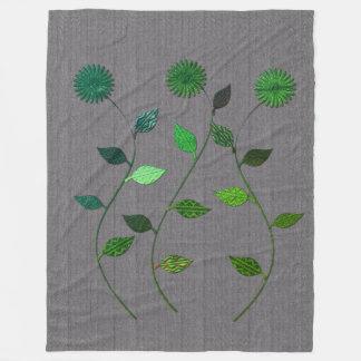 Manta texturizada floral verde clara elegante