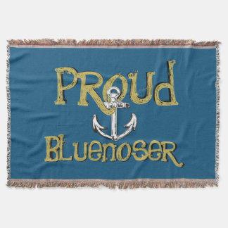 Manta Tiro orgulloso del ancla del tartán de Bluenoser