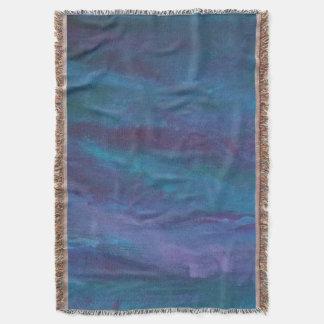 Manta Turquesa verde azulada púrpura azul marino