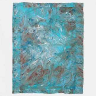 Manta verde azulada del paño grueso y suave de