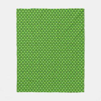 Manta verde linda del paño grueso y suave del
