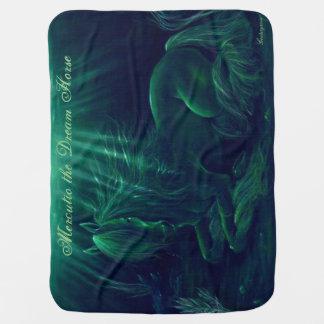 Manta verde mágica - Mercutio el caballo ideal Mantas De Bebé