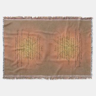 Manta Verso cristiano de la biblia del salmo 23 KJV