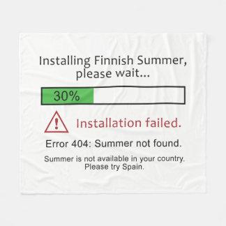 Mantas finlandesas divertidas del paño grueso y