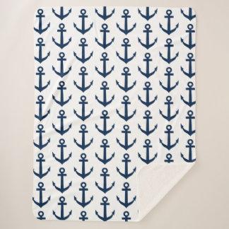 Mantas náuticas del sherpa del modelo del ancla de