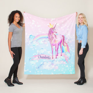 Mantas personalizadas manta del unicornio del